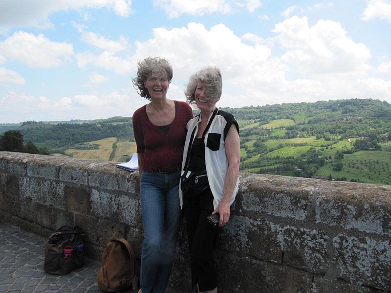 Majio with Bella in Tuscany