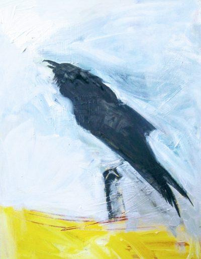 "Black Crow, acrylic on canvas, 18"" X 24"""
