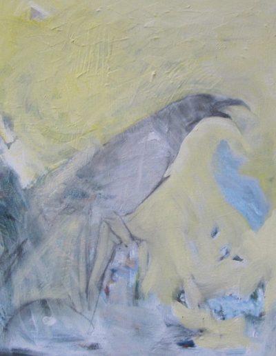 """Talking a Blue Streak, acrylic on canvas, 16"""" X 20"""""""