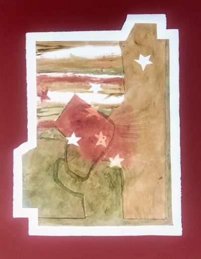 Fitting into Stars and...1/2, Diptych on paper with marking materials