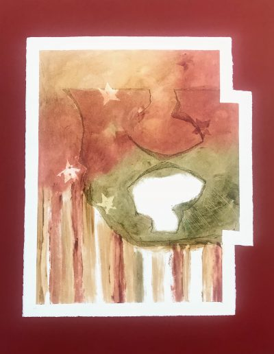 Fitting into Stars and... 2/2, Diptych on paper with marking materials