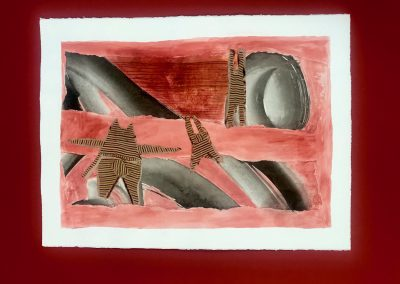 Moloka'i Dancers 2/3, Triptych on paper with marking materials
