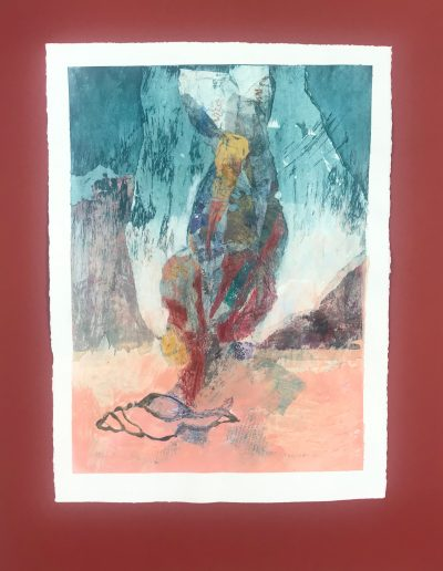 Shell's Dream 2/2, Diptych on paper with marking materials,