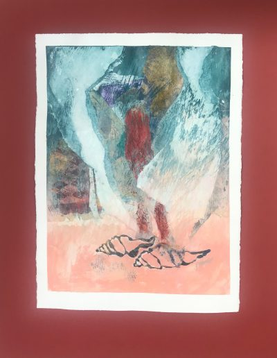 Shell's Dream 1/2, Diptych on paper with marking materials
