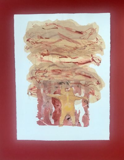 Dancer's Dream 1/2, Diptych on paper with marking materials