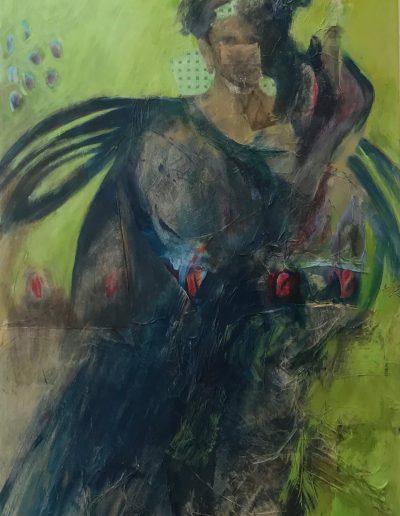 Angel Bedouin, acrylic on canvas