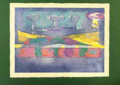 Sky Trees at Dawn 1/2, Diptych on paper with marking materials