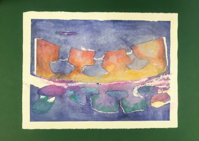 """Sky Trees at Dawn 2/2, Diptych on paper with marking materials, 22"""" X 30"""""""