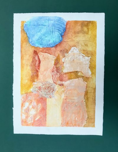 Moon Rising from the Bathtub 1/2, Diptych on paper with marking materials