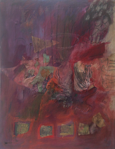 Sorting, mixed media on canvas
